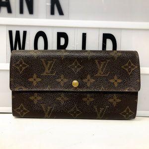 Louis Vuitton Sarah Bifold Monogram Long Wallet
